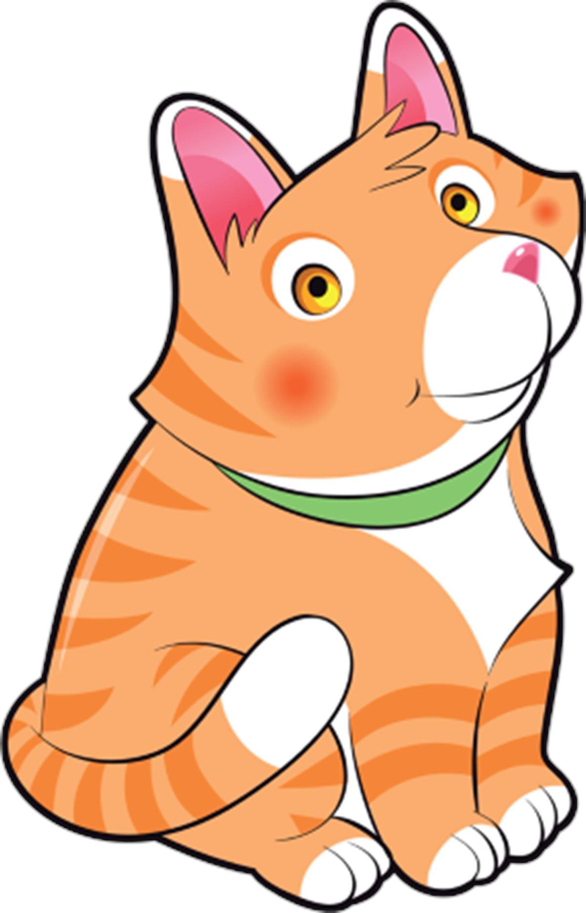 Adesivi murali gattino mandarino leostickers for Planner cameretta